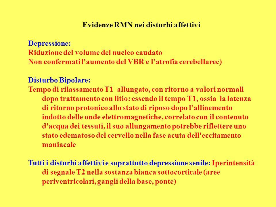 Evidenze RMN nei disturbi affettivi