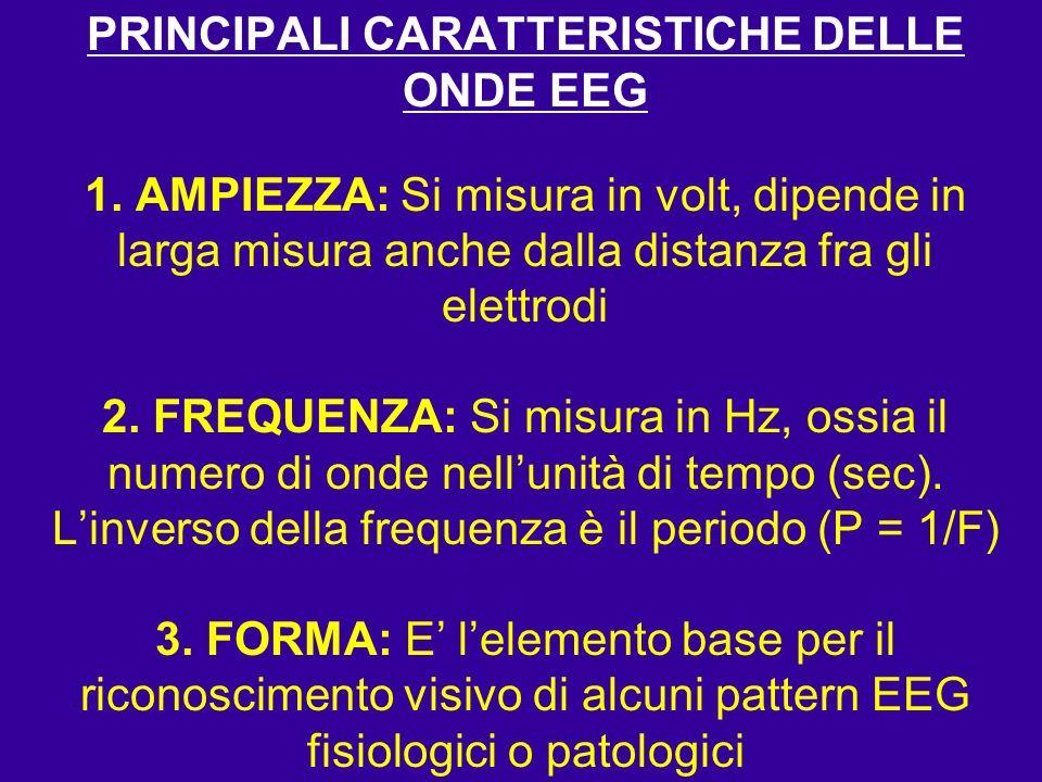 PRINCIPALI CARATTERISTICHE DELLE ONDE EEG 1