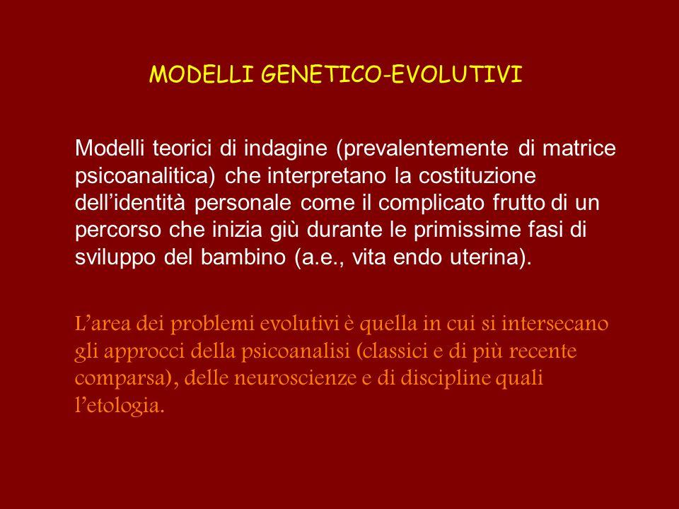 MODELLI GENETICO-EVOLUTIVI