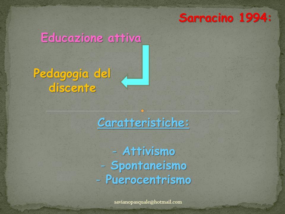 Pedagogia del discente