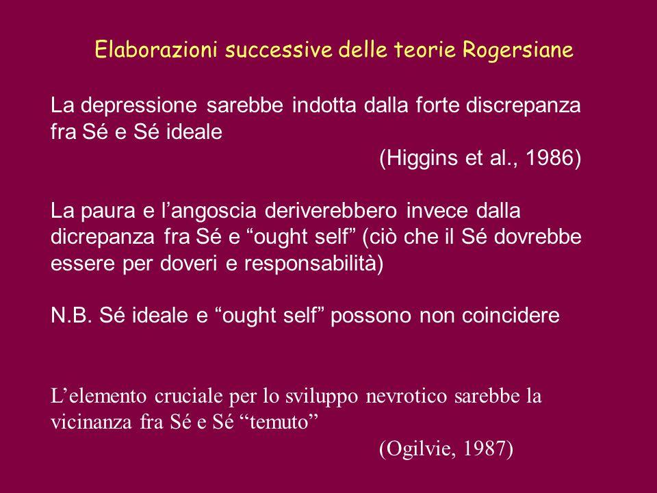 Elaborazioni successive delle teorie Rogersiane