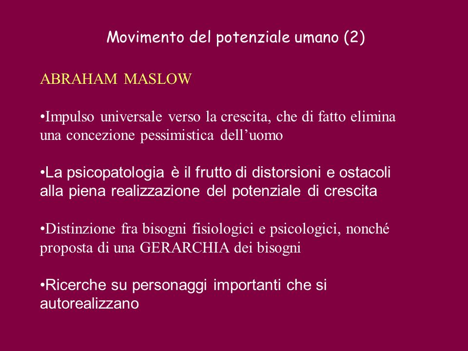 Movimento del potenziale umano (2)
