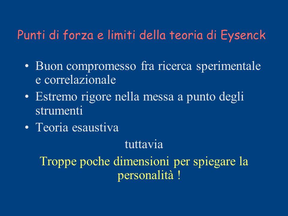 Punti di forza e limiti della teoria di Eysenck