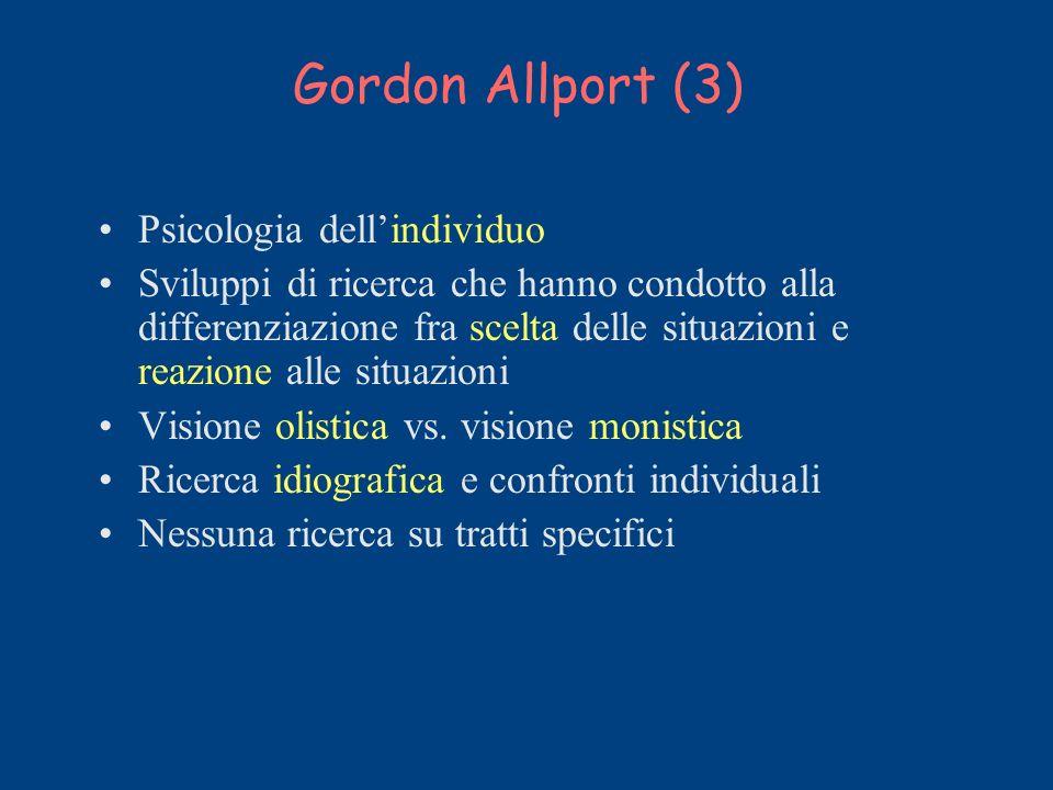 Gordon Allport (3) Psicologia dell'individuo