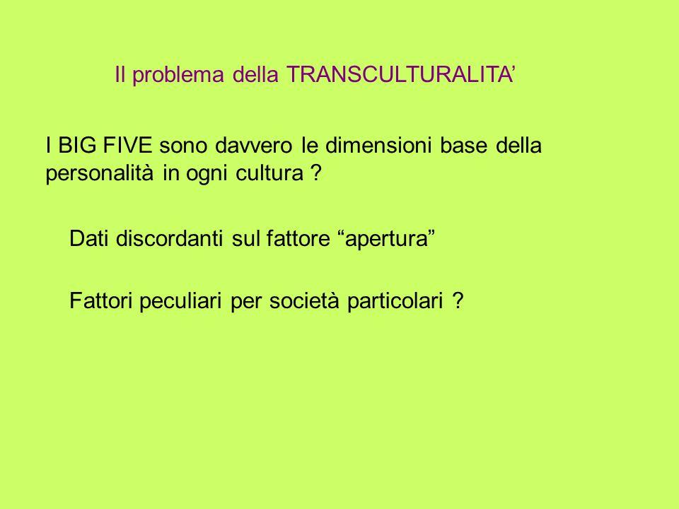 Il problema della TRANSCULTURALITA'