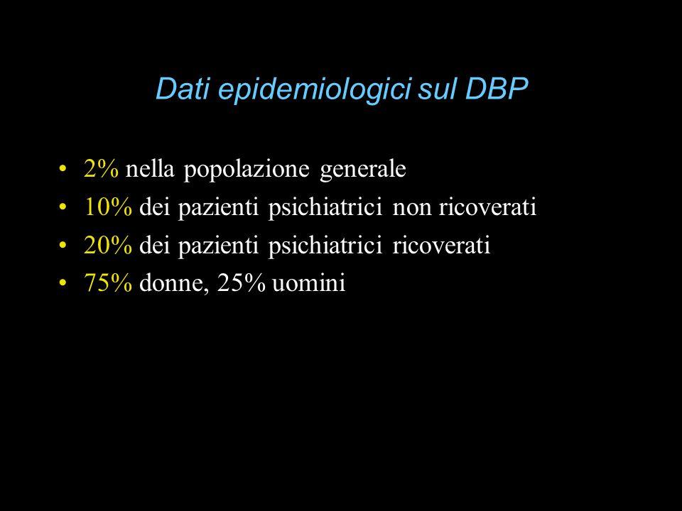 Dati epidemiologici sul DBP