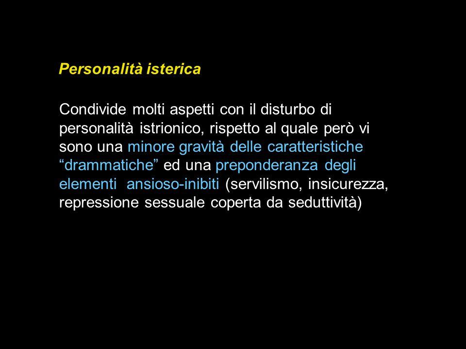 Personalità isterica