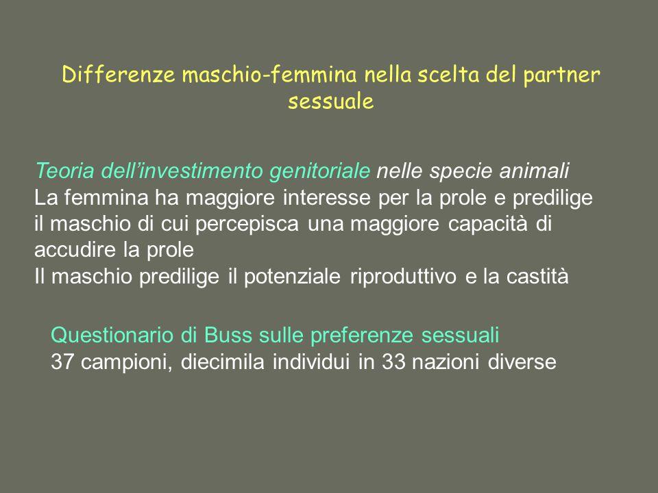 Differenze maschio-femmina nella scelta del partner sessuale