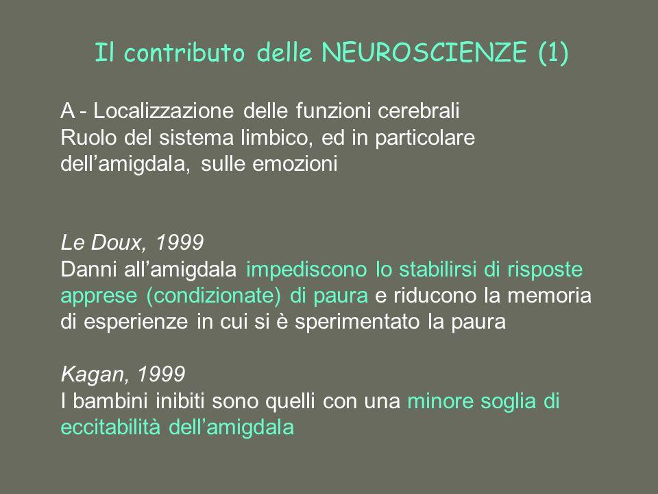 Il contributo delle NEUROSCIENZE (1)