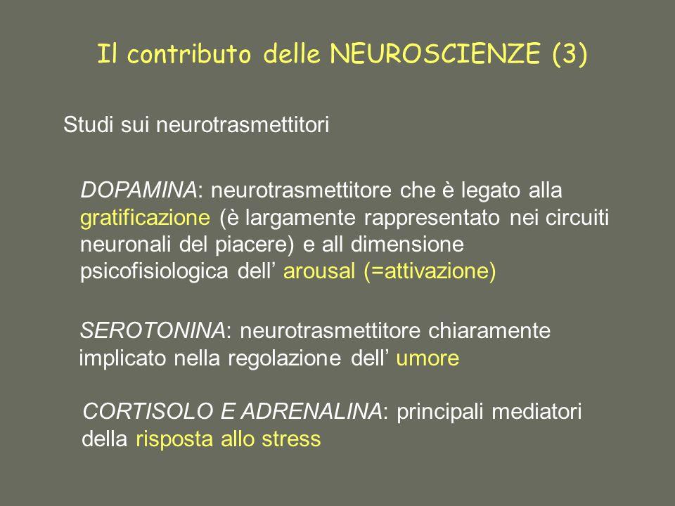 Il contributo delle NEUROSCIENZE (3)
