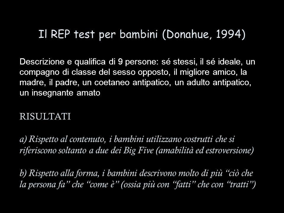 Il REP test per bambini (Donahue, 1994)