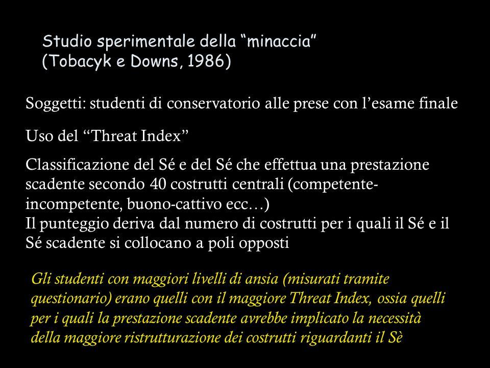 Studio sperimentale della minaccia (Tobacyk e Downs, 1986)