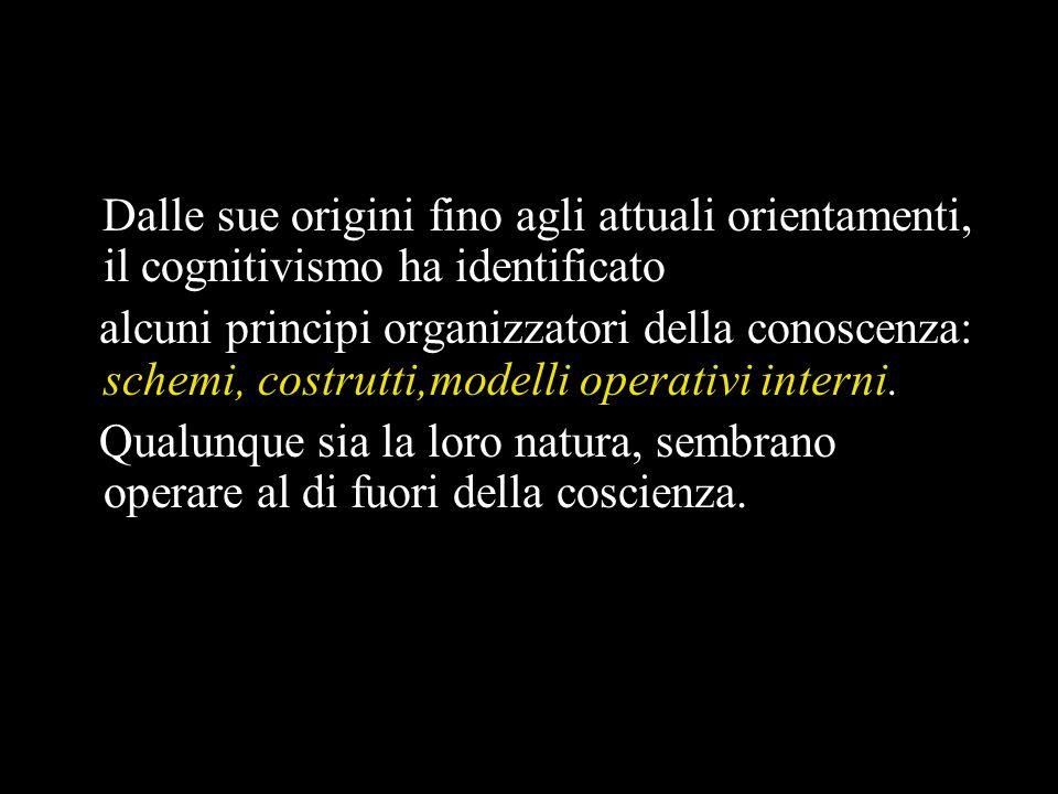Dalle sue origini fino agli attuali orientamenti, il cognitivismo ha identificato
