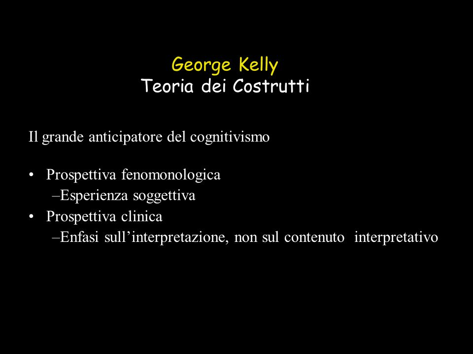 George Kelly Teoria dei Costrutti