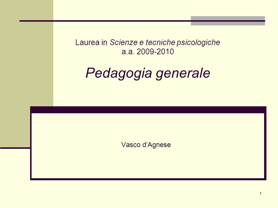 Laurea in Scienze e tecniche psicologiche a. a