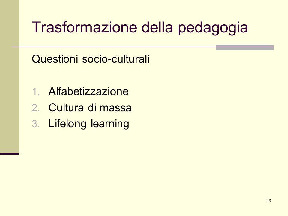Trasformazione della pedagogia