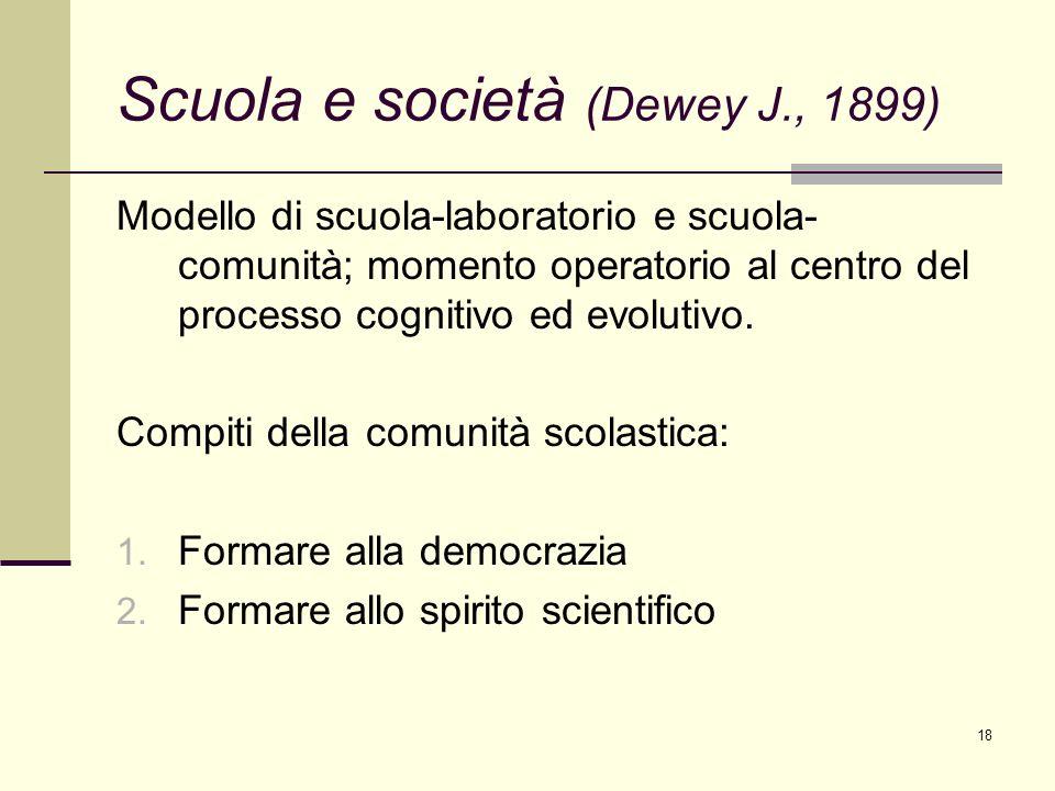Scuola e società (Dewey J., 1899)
