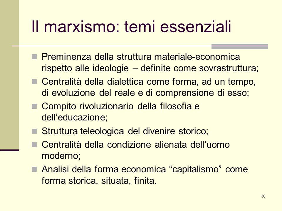 Il marxismo: temi essenziali