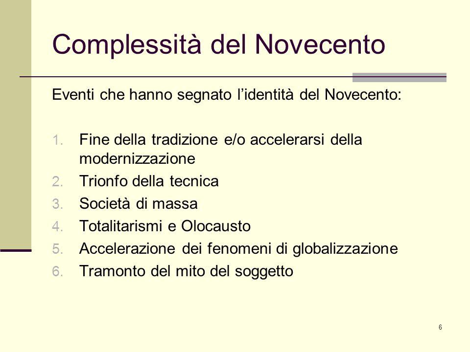 Complessità del Novecento