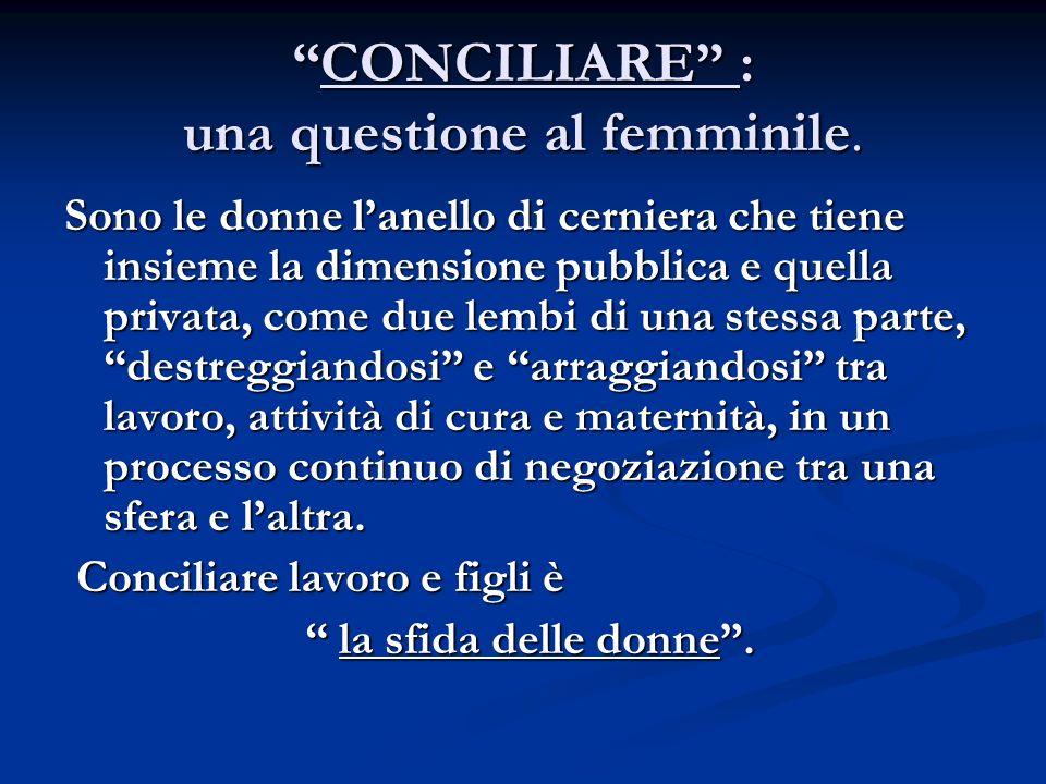 CONCILIARE : una questione al femminile.