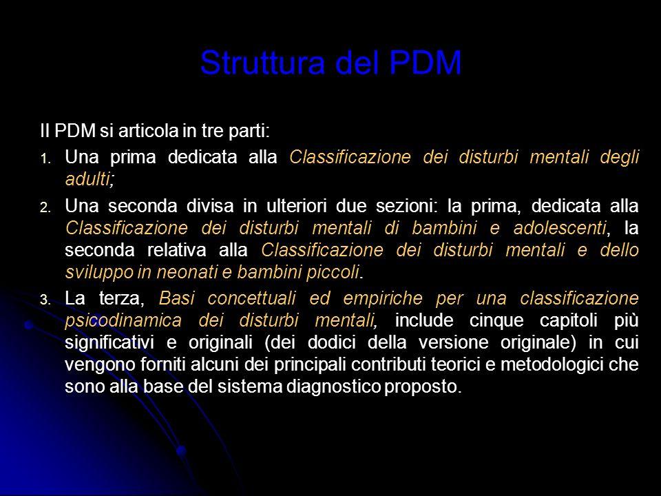 Struttura del PDM Il PDM si articola in tre parti:
