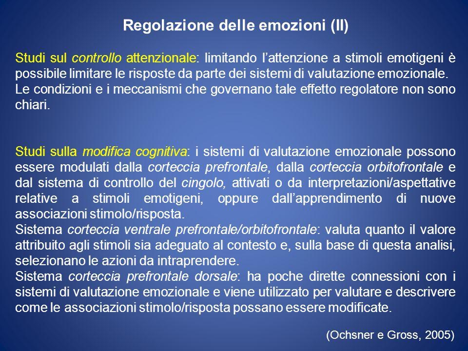 Regolazione delle emozioni (II)