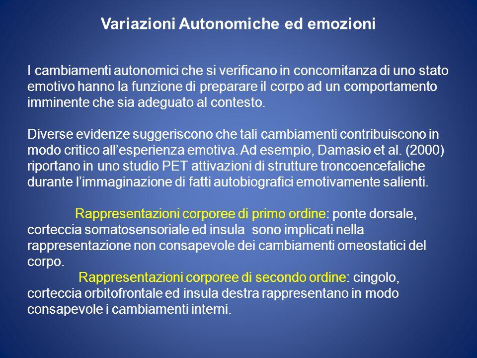 Variazioni Autonomiche ed emozioni
