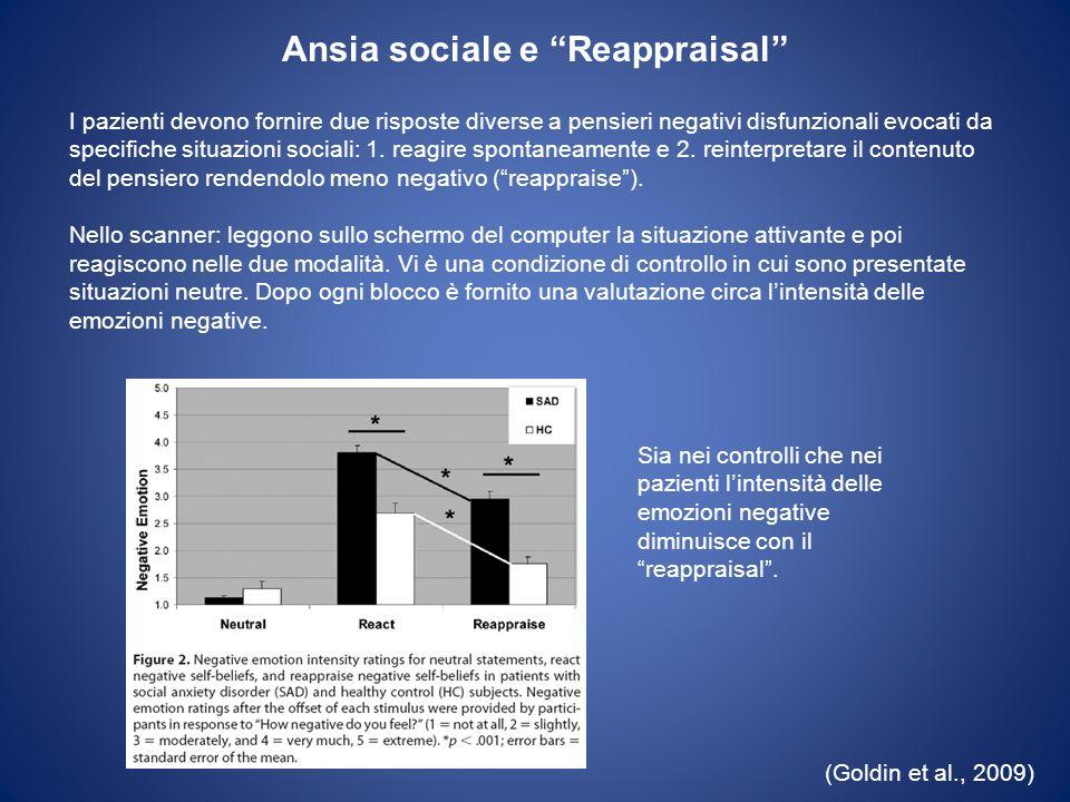 Ansia sociale e Reappraisal