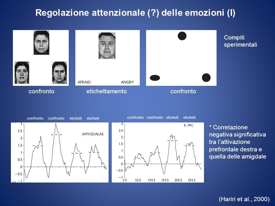 Regolazione attenzionale ( ) delle emozioni (I)