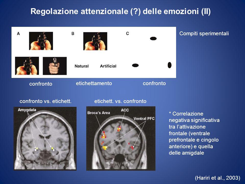 Regolazione attenzionale ( ) delle emozioni (II)