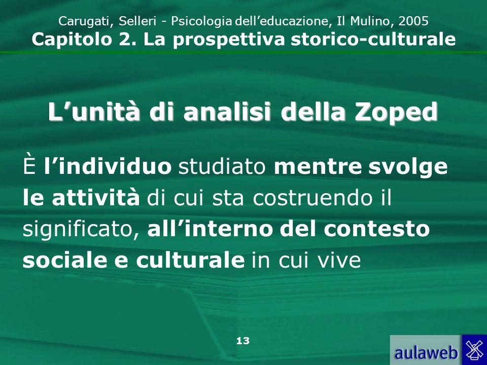 L'unità di analisi della Zoped