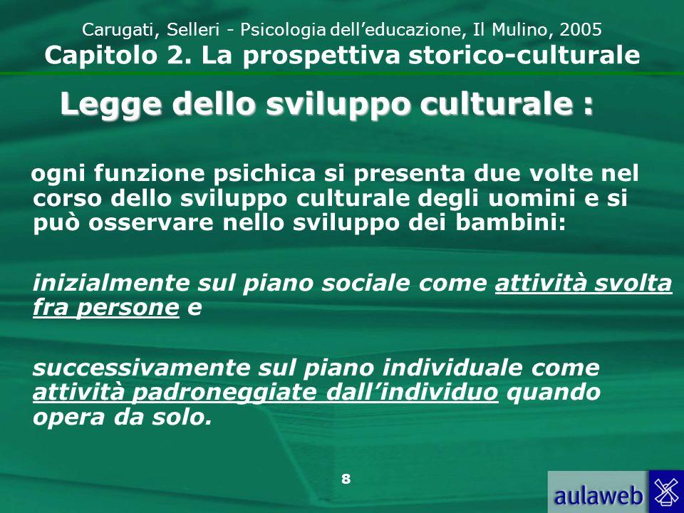 Legge dello sviluppo culturale :