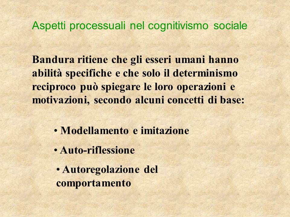 Aspetti processuali nel cognitivismo sociale