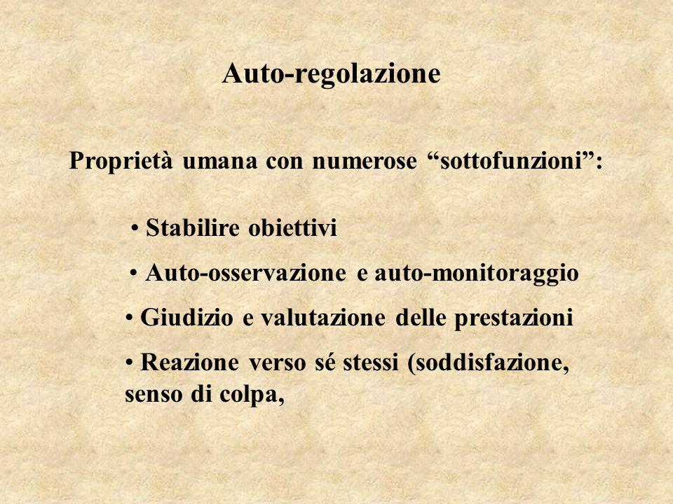 Auto-regolazione Proprietà umana con numerose sottofunzioni :