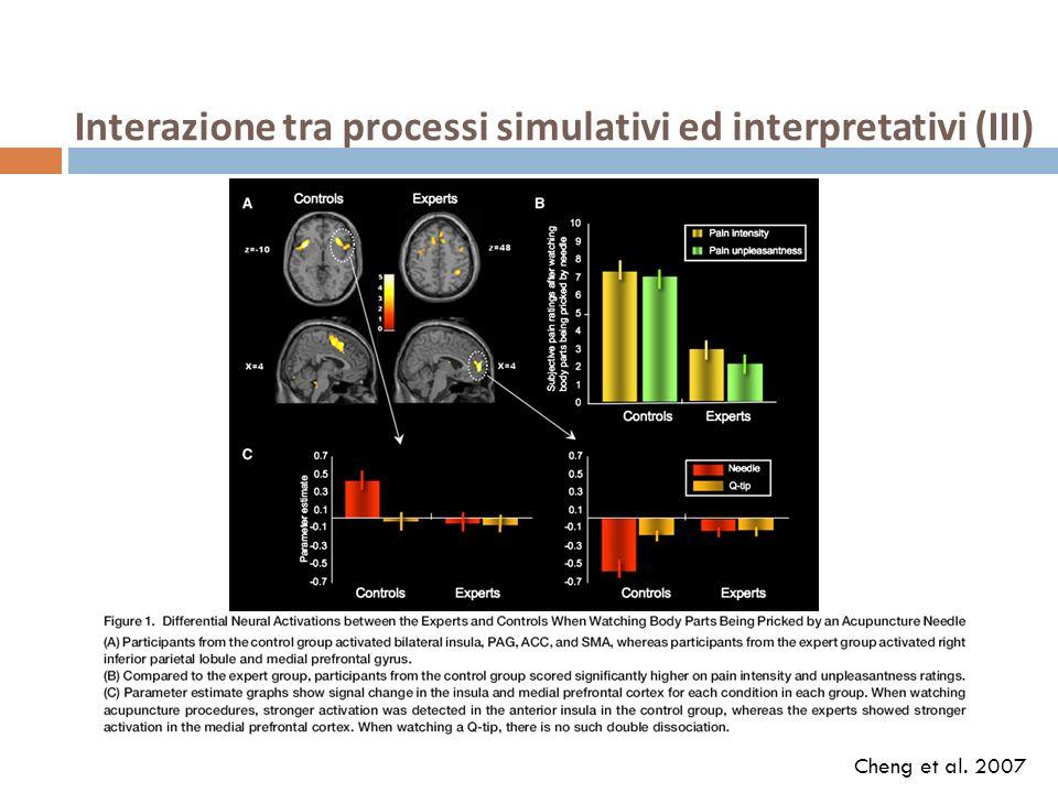 Interazione tra processi simulativi ed interpretativi (III)