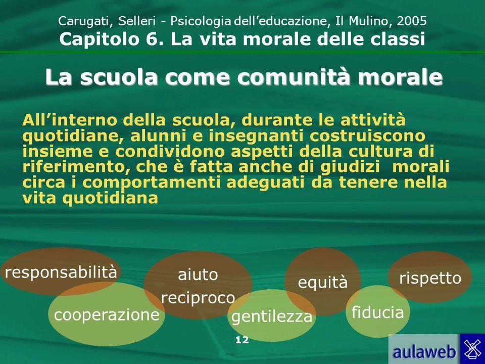 La scuola come comunità morale