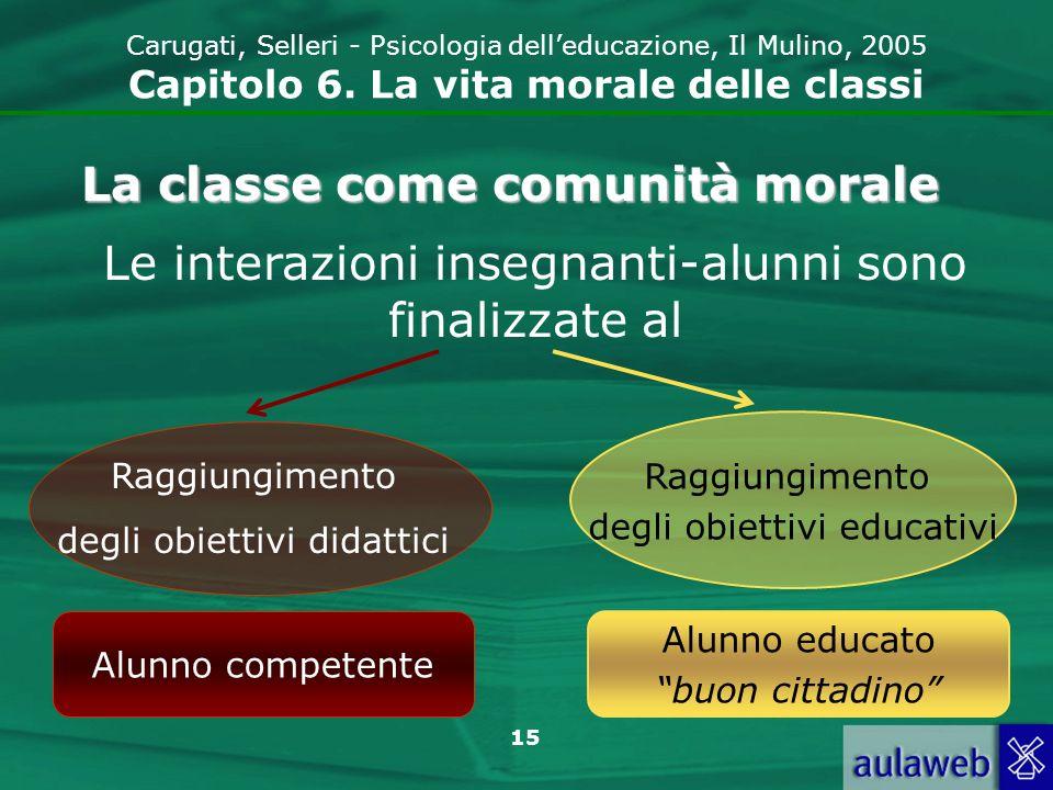 La classe come comunità morale