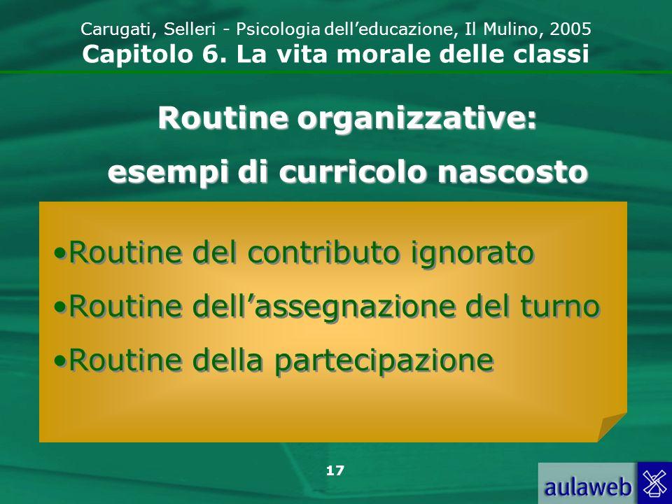 Routine organizzative: esempi di curricolo nascosto