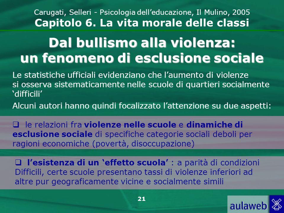 Dal bullismo alla violenza: un fenomeno di esclusione sociale