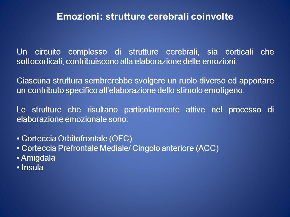 Emozioni: strutture cerebrali coinvolte