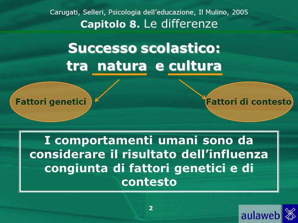Successo scolastico: tra natura e cultura