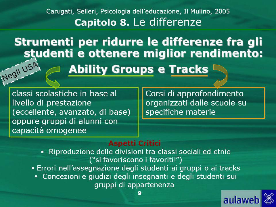 Ability Groups e Tracks