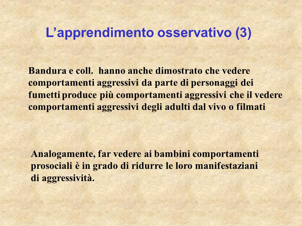 L'apprendimento osservativo (3)