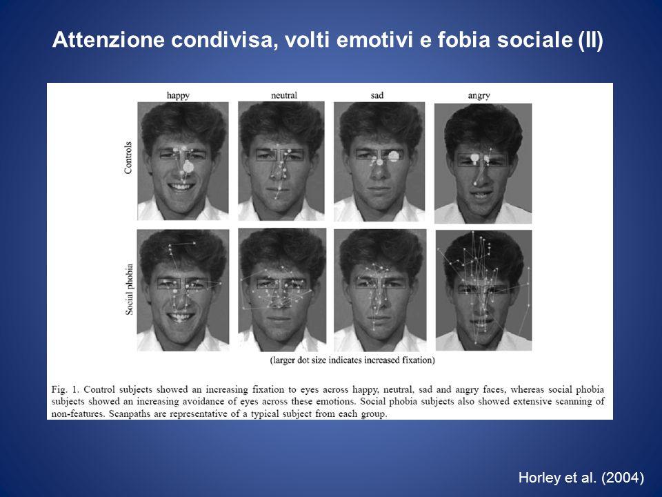 Attenzione condivisa, volti emotivi e fobia sociale (II)