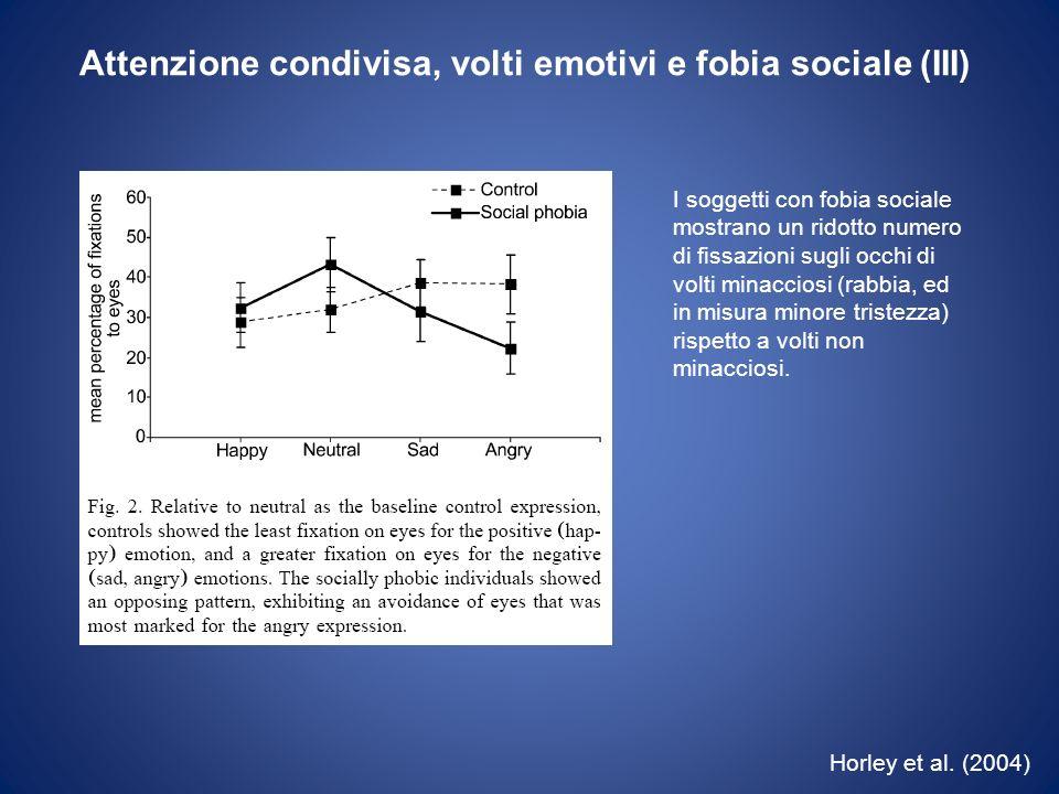 Attenzione condivisa, volti emotivi e fobia sociale (III)