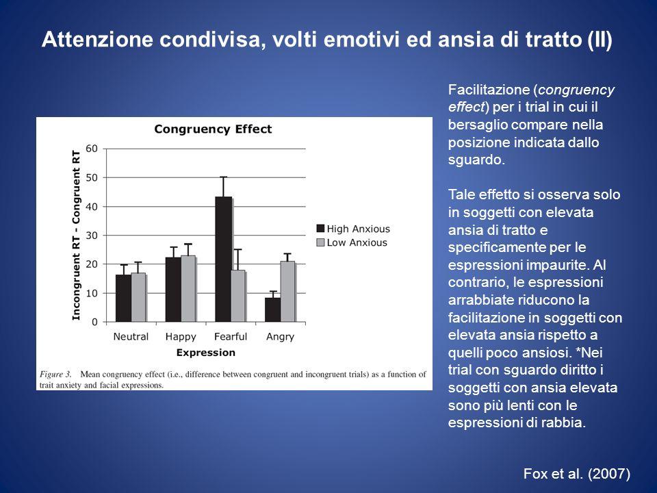 Attenzione condivisa, volti emotivi ed ansia di tratto (II)