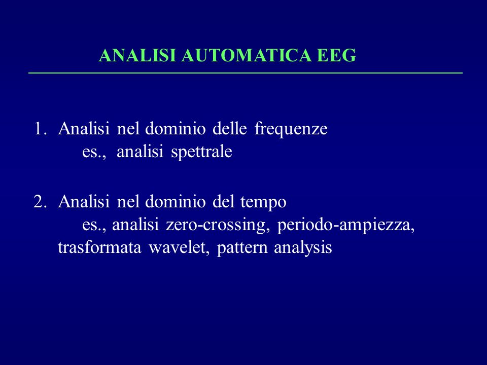 ANALISI AUTOMATICA EEG