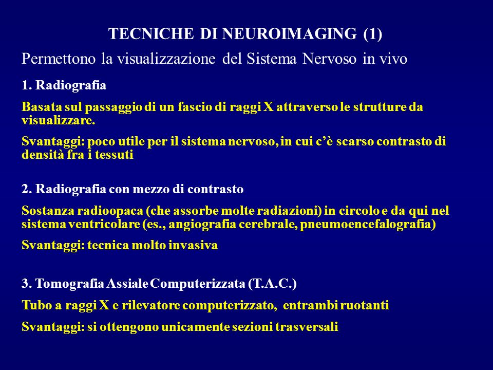 TECNICHE DI NEUROIMAGING (1)