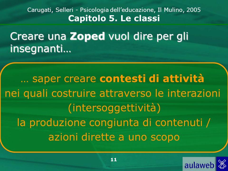 Creare una Zoped vuol dire per gli insegnanti…