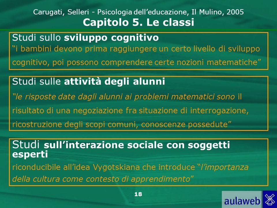 Studi sull'interazione sociale con soggetti esperti